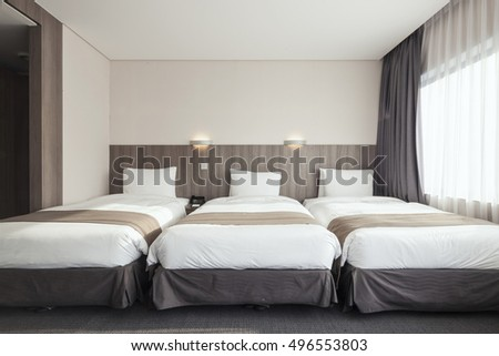 Elegant Hotel Room Suite Double Bed Stock Illustration 311505050
