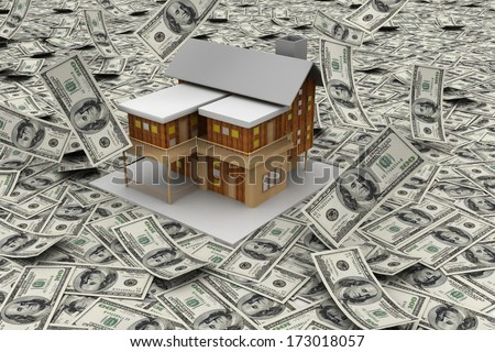 a house on Dollar notes