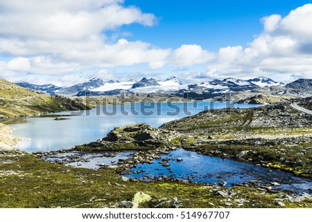 A lake in the Sognefjell mountain area of Norway