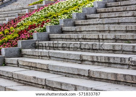 Entrance mediterranean monastery old style stairs stock for European staircase design