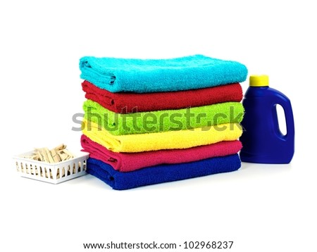 A laundry items isolated against a white background