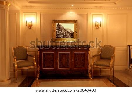 3d Render Interior Scene Luxury Palace Stock Illustration