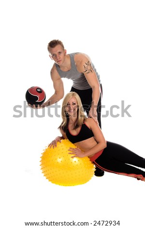 A Male and female team of personal trainers