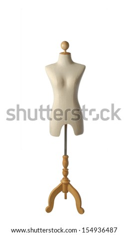 A mannequin on white, clipping path