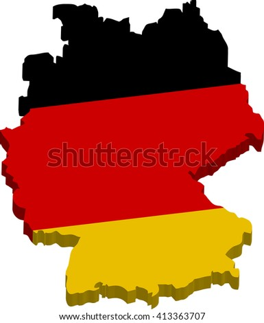 Germany Map D Stock Vector Shutterstock - Germany map clipart