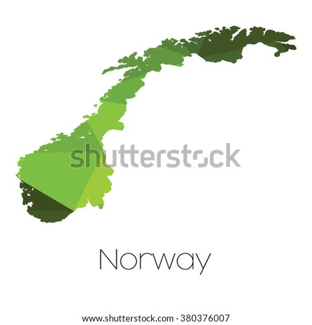 A Map of the country of Norway Norway