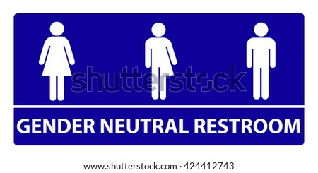 A new gender neutral bathroom sign design since the government has issued that all bathrooms are for all genders no matter what gender they were born as