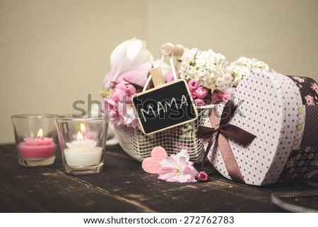 Nice gift mothers day stock photo 272762738 shutterstock a nice gift for mothers day negle Image collections