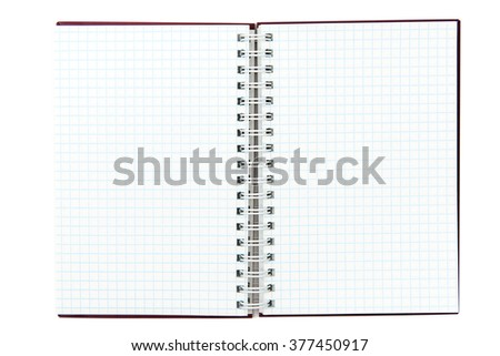 a Notepad on a white background
