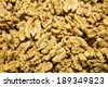 a nutty background, lot out on the counter market of - stock photo