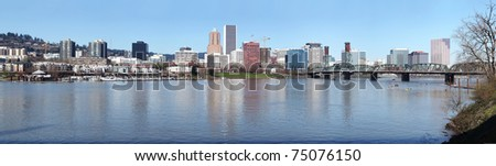 A panorama of Portland Oregon.