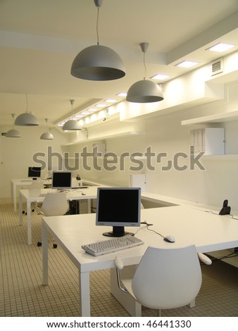 a part of office in white color
