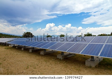 a photo voltaic park in Greece