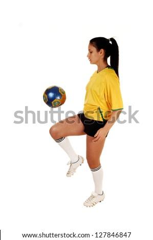 playing football girls Busty