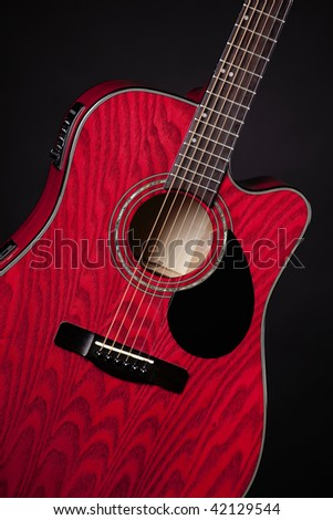 closeup on electric guitar fake red stock photo 19710331 shutterstock. Black Bedroom Furniture Sets. Home Design Ideas