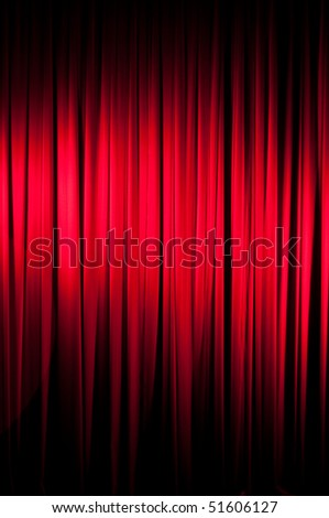 A red velvet stage curtain with vignetting for effect.  Part of a series