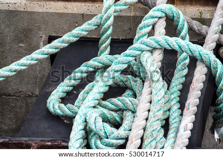 A rope from the boat The Elissa in Galveston Texas