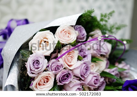 Rose Bouquet Purple Red Stock Photo 502198861