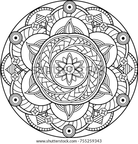 coloring pages adults circle - photo#7
