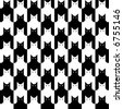 "A seamless ""cats"" pattern in black and white. Vector format also available. - stock vector"