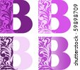 "A set of four letters ""B"" different color - stock vector"