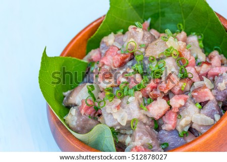 A simple Hawaiian hash made with local taro, thick bacon, green onions and seasoning