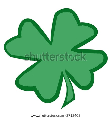 A simple shamrock perfect for St. Patricks Day.  Very Irish.