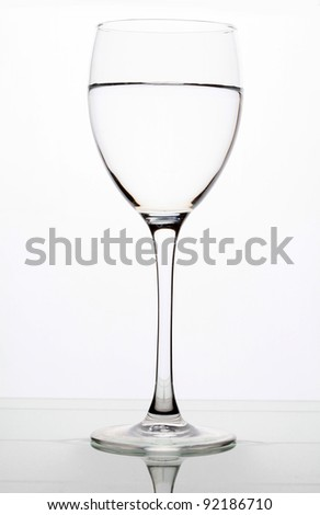 A Single glass with water