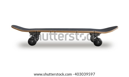A skateboard on white