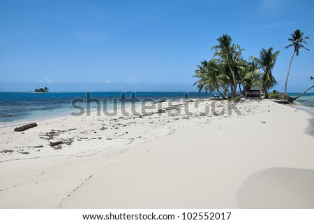 A Small Tropical White Sand Island in Belize