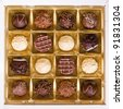 A square box of chocolates - stock photo