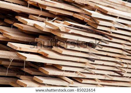 a stack of boards
