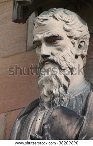 A statue of Saint Andrew