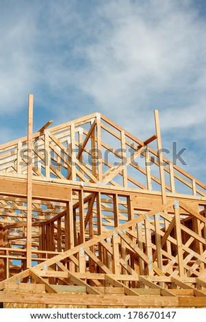 Surprising New Stick Built Home Under Construction Stock Photo 177486833 Largest Home Design Picture Inspirations Pitcheantrous