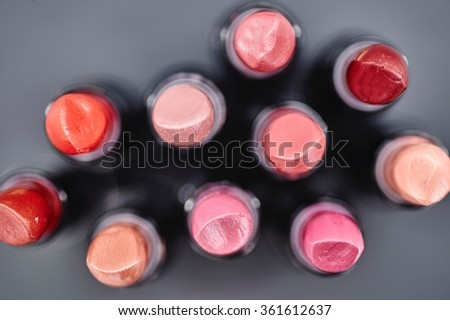A studio close up of cosmetic lipstick