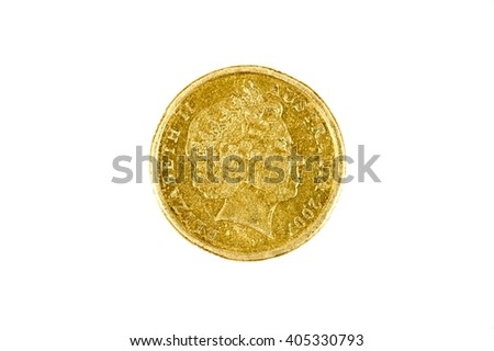 A studio photo of Australian coin currency