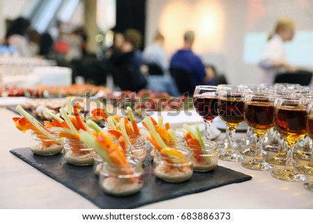 buffet table canape sandwiches snacks holiday stock photo 517584631 shutterstock. Black Bedroom Furniture Sets. Home Design Ideas