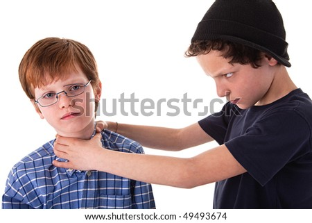 a teen beating a child