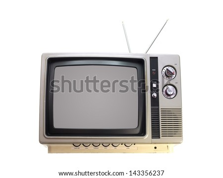 A television isolated against a white background