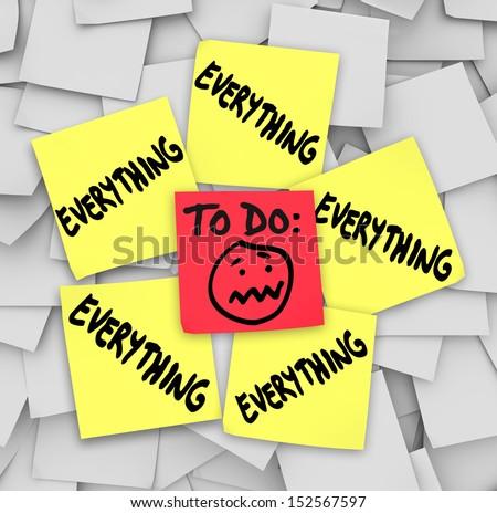 Life Stress Illustrated By Many Sticky Stock Illustration 91506134 ...