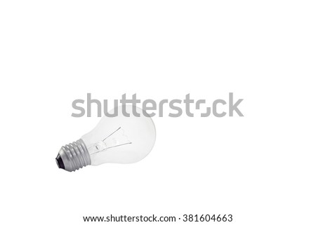 A unplugged light (Isolated and have clipping path)