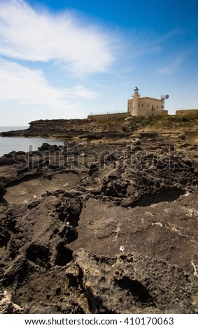 a view of the Favignana lighthouse Sicily,Italy