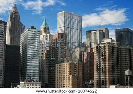 A view of the Lower Manhattan skyline.