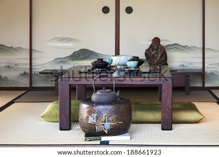 A view of Traditional Japanese Dining Room