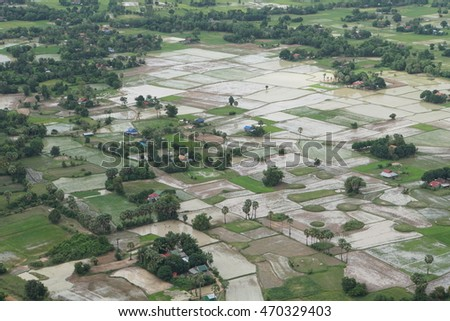A village in a rural area of Cambodia.