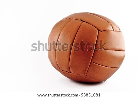 A vintage soccer ball with a white background