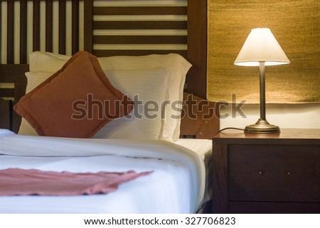 A well decorated Bed Room