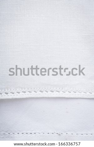 a white tablecloth