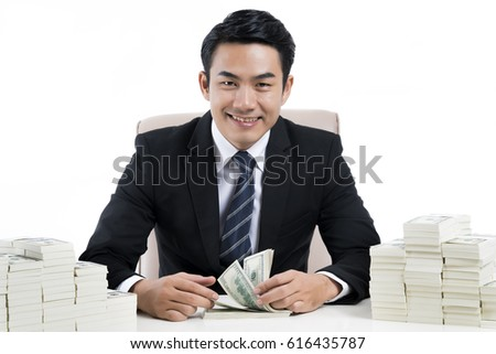 Government Official Stealing Money Taxpayers Stock Photo ...