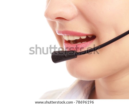 A young customer service girl with a headset